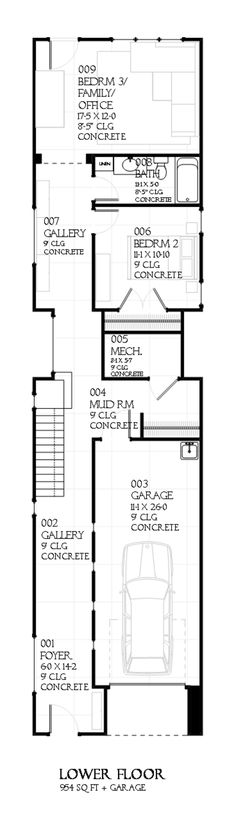 design for a narrow lot (second floor) | small and prefab