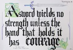 "This is one of my favorite Legend of Zelda quotes! I painted the words, and the rest is done with pencil crayon. ""A sword wields no strength unless the . Legend of Zelda: Hero's Shade Quote Legend Of Zelda Hero, Legend Of Zelda Quotes, Oot Link, Shade Quotes, Zelda Tattoo, Otaku, Wind Waker, Twilight Princess, Comic"