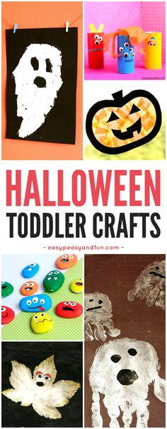 Easy Halloween crafts for toddlers to make. From handprint art to torn paper ideas that are kid friendly. halloween crafts for kids Arts And Crafts Storage, Arts And Crafts For Teens, Easy Arts And Crafts, Easy Crafts For Kids, Projects For Kids, Toddler Halloween, Homemade Halloween, Halloween Crafts For Kids, Holiday Crafts