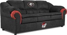 I NEED Georgia Bulldogs Full Size Sofa Couch...i so want one of these