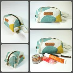 Cosmetic pouch / boxy bag  Find more at : www.bearberryhandmade.etsy.com