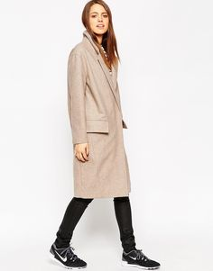 Beige oversized coat