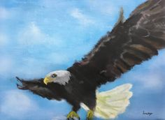 Bald Eagle - acrylic painting by Lucas B. Website Features, Buy Art Online, Original Art For Sale, Local Artists, Art School, Bald Eagle, Art Gallery, Gifs, Student