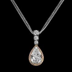 diamond pendant necklaces that look fabulous. Diamond Pendant Necklace, Pendant Jewelry, Diamond Jewelry, Diamond Earing, Pear Diamond, Pear Shaped Diamond, Diamond Ice, Beautiful Necklaces, Jewelery