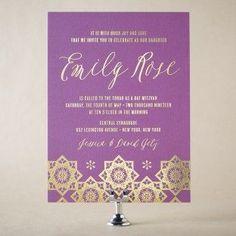 Modern Mosaic Mitzvah Wedding Invitation Design