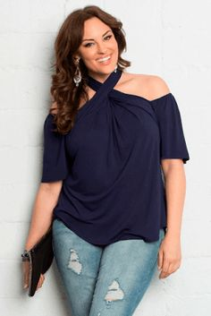 How to buy plus size shirts at an easier way? Plus Size Shirts our plus size florence flair halter top takes your style ZLSOTEY Plus Size Going Out Outfits, Plus Size Outfits, Plus Size Fashion For Women, Plus Size Women, Plus Fashion, Plus Size Shirts, Plus Size Blouses, Club Outfits For Women, Clothes For Women