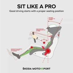 Proper seating position is key to effective driving. How to find the perfect way to sit in the car, with the help of professional rally drivers? Rally Drivers, Rally Car, Kart Cross, Car Facts, Racing Car Design, Racing Seats, Racing Wheel, Auto Racing, Racing Simulator