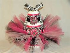 Diaper Cakes By Emily Pink And Zebra Tutu Cake