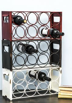 Wine, Two, Three Wine Rack. Express your exquisite taste in decor with these three stacking wine racks! #multi #modcloth