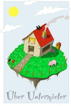 spinne-auf-der-rinne-angel-miguelez | reimix illustrationen, Garten ideen