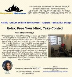 Call today and book your hypnotherapy appointment with the best Clinical Hypnotherapist in Melbourne! If you need a change in your life, we are ready to Behavior Change, Hypnotherapy, Self Development, Appointments, Clinic, Melbourne, Mindfulness, Good Things, Feelings