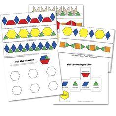 Plantillas para los bloques geométricos - Aprendiendo matemáticas