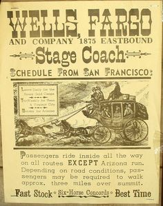 Wells Fargo Stagecoach | Wells Fargo Stagecoach Poster | Flickr - Photo Sharing!