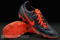 Nike Football Boots - Nike T90 Laser IV KL-FG - Firm Ground - Soccer Cleats - Black-Total Crimson-Black