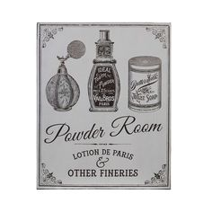 Buy Powder Room, Wall Plaque, MDF in UK for £4.94 on looknbuy.co.uk at Best Price | Free shipping on orders over £50