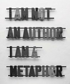 I Am Not an Author, I Am a Metaphor by Dezider Toth, http://www.amazon.co.uk/dp/8088805090/ref=cm_sw_r_pi_dp_htDQsb0YZKX0G