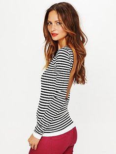 my two favorites! stripes + open back
