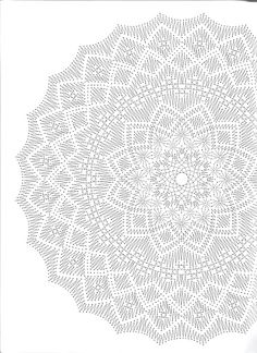 Best 12 How to make an invisible decrease in single crochet – SkillOfKing. Crochet Tablecloth Pattern, Crochet Doily Diagram, Crochet Doily Patterns, Crochet Mandala, Afghan Patterns, Filet Crochet, Crochet Doilies, Knitting Patterns, Blackwork Patterns