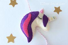 Tutorial free ! Unicorn garland ! #felt #tutorial #handmade #garland #diy Felt Tutorial, Garland, Dinosaur Stuffed Animal, Deco, Kids, Handmade, Free, Unicorn, Young Children