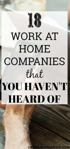 Are you tired of searching for more and more work at home companies? There are many remote companies that you haven't heard of and today I am sharing a list of those companies. So choose the one you like and start applying.