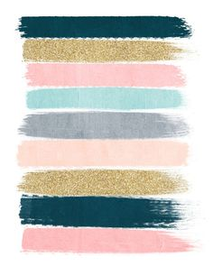 Zara - Brushstroke Glitter Trendy Girly Art Print And Phone Case For Young Trendy Girls Framed Art Print by Charlottewinter - Vector Black - Colour Schemes, Color Palettes, Color Bordo, Girly, Teal And Pink, Blush Pink, Dark Teal, Winter Art, New Blue