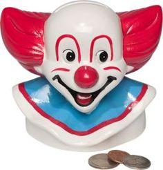 Vintage Clown Bank | Bozo The Clown Piggy Bank
