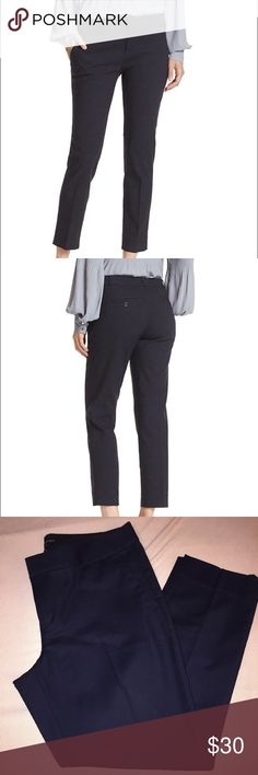 banana republic Hampton Fit pants - deep dark navy banana republic Hampton Fit pants - deep dark navy // New with tags // looks almost black Banana Republic Pants Ankle & Cropped