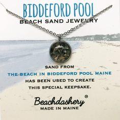 00caf499e Biddeford Pool Maine Beach Sand Jewelry handmade by Beachdashery  #sandjewelry #madeinmaine Pool Sand,