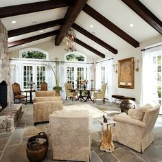 Exposed Truss Stained And Painted Design Ideas, Pictures, Remodel, and Decor - page 6