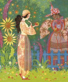 'Blancanieves'. Ilustración de Wanda Zeigner-Ebel, 1911.