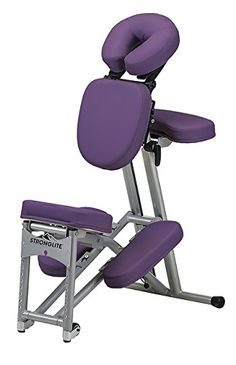 Stronglite Ergo Pro II - Version 2 Portable Massage Chair Package in Purple w 3 D.V.D Medical Massage Video Series -- Details can be found by clicking on the image.
