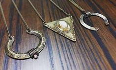 Colares longos em ouro velho #ilove #atelie #acessorios