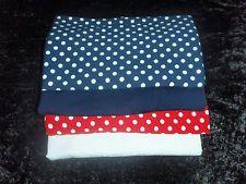 Stoffpaket Jersey Rot Dunkelblau Tupfen Uni Weiß Dunkelblau
