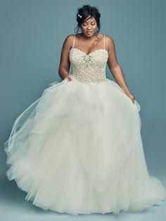2c4c9177869d Maggie Sottero Wedding Dress SHAUNA-LYNETTE 8MD711AC Plus-Main Fitted  Wedding Gown, Plus