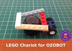 Make a lego chariot to use with ozobot to transport a lego figure (idea from TechAgeKids.com)