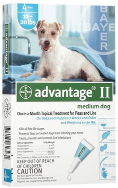 Advantage for Dogs 11-20 lbs, 4 - 1.0 ml tubes >>> Details can be found by clicking on the image. (This is an affiliate link and I receive a commission for the sales)