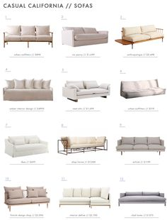 Achieving the 'Effortless Expensive' Style: Furniture - Emily Henderson - california style sofas Loft Furniture, Living Room Furniture, Furniture Design, Antique Furniture, Rustic Furniture, Modern Furniture, Outdoor Furniture, Furniture Dolly, Furniture Removal