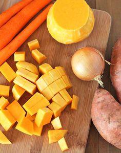 Butternut Squash Sweet Potato Carrot Soup