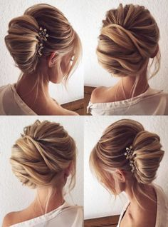 Featured Hairstyle: tonyastylist (Tonya Pushkareva) instagram.com/tonyastylist; Wedding hairstyle idea, click to see more details; Wedding hairstyle idea.