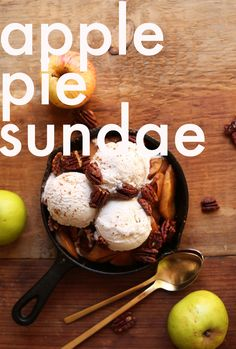 NATURALLY SWEETENED Apple Pie Sundaes! Tender cinnamon apples with Coconut Ice…