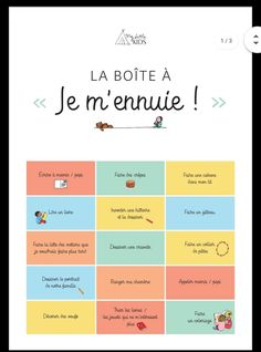 Education Positive, Kids Education, Creative Activities, Activities For Kids, Organization Bullet Journal, French Language Lessons, Funny Kids, Diy For Kids, Kids Learning