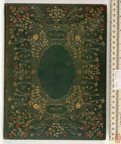 Binder: Sir Edward Sullivan, Irish 19th c Full goatskin binding with onlays and gold tooling.  Crane, Walter.   Flora's feast London, 1889