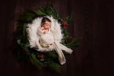 Christmas Newborn, Newborn Christmas Photo, Newborn Christmas Wreath, Newborn Photographer Murrieta, CA