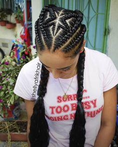 La imagen puede contener: una o varias personas y primer plano Quick Braided Hairstyles, African Braids Hairstyles, Cute Hairstyles, Black Girl Braids, Girls Braids, Swimming Hairstyles, Afro Braids, Natural Hair Styles, Long Hair Styles