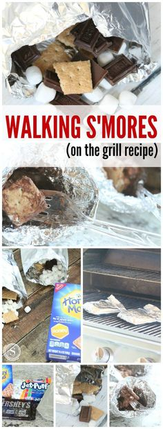 Walking S'mores On the Grill Easy Recipe! Grilling recipes for summertime! A twist on a traditional favorite!