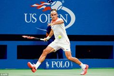 Roger Federer moved into his Grand Slam semi-final - and he hasn't dropped a set in the US Open so far. Federer had no trouble beating Richard Gasquet Us Open, Ken Rosewall, Roger Federer Family, Stan Wawrinka, Tennis News, Play Tennis, Semi Final, Tennis Players, Finals