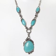 Elegant Turquoise Necklace Set - 2 Style
