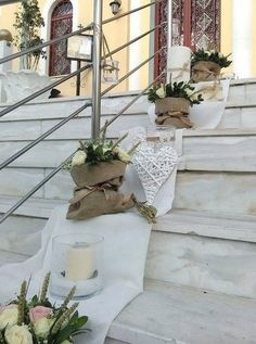στολισμος γαμου με πουγκια Wedding Props, Our Wedding, Wedding Venues, Dream Wedding, Wedding Decorations, Wedding Designs, Wedding Styles, Kirchen, Country Chic