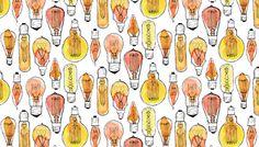 Vintage Bulb Repeat by Zoe Brookes, via Behance