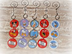 Mickey and Friends inspired Bottle Cap Ornaments by NikkisBows, $4.00